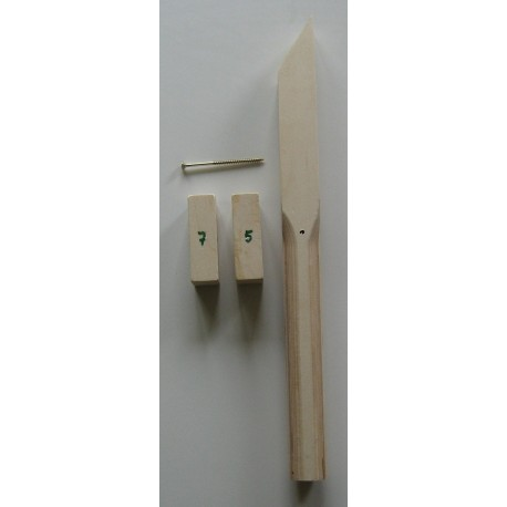 Stockbremse incl. Klotz 5+7 + Schraube